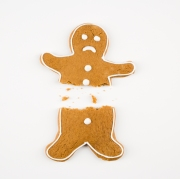 Broken gingerbread man.